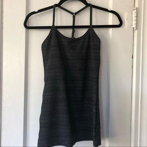 Beyond Yoga Y Back Tank Space Dye Grey Sz Small